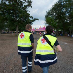 Nos secouristes au Festival de Dour