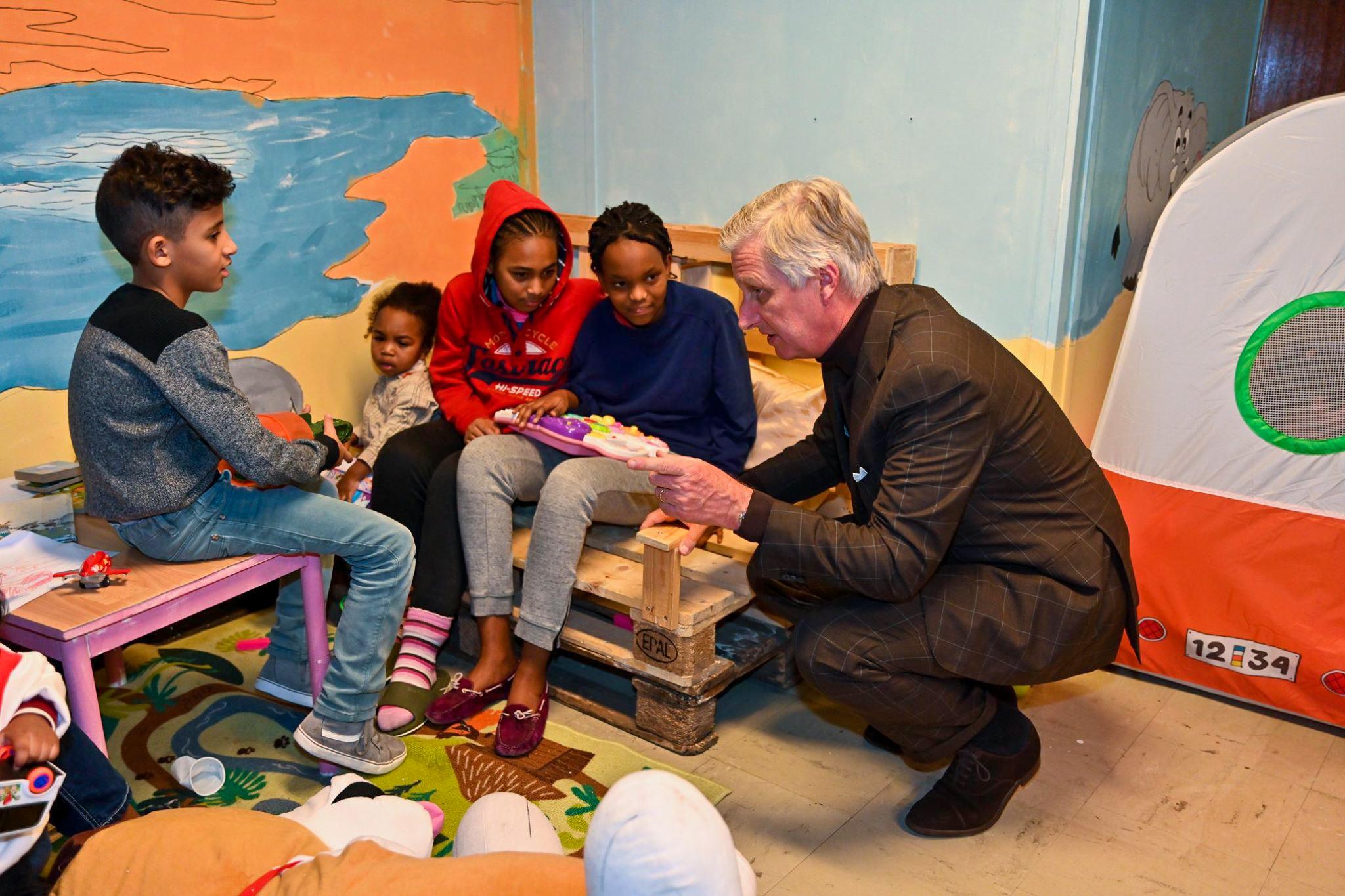 Visite royale au centre pour personnes sans-abri