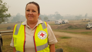 Tracy Ayrton, bénévole à la Croix-Rouge australienne