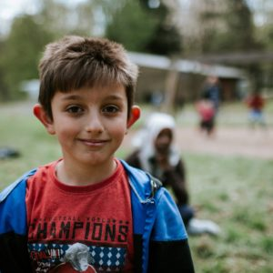 Un enfant demandeur d'asile dans un centre d'accueil de la Croix-Rouge de Belgique