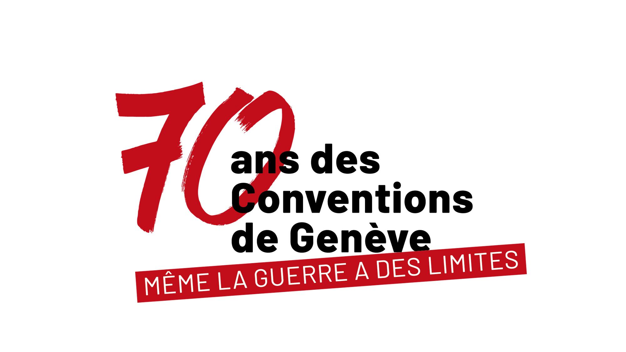 Logo des 70 ans des Conventions de Genève ©CICR